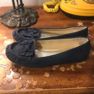 Lands' End Shoes - Bow loafer navy flat
